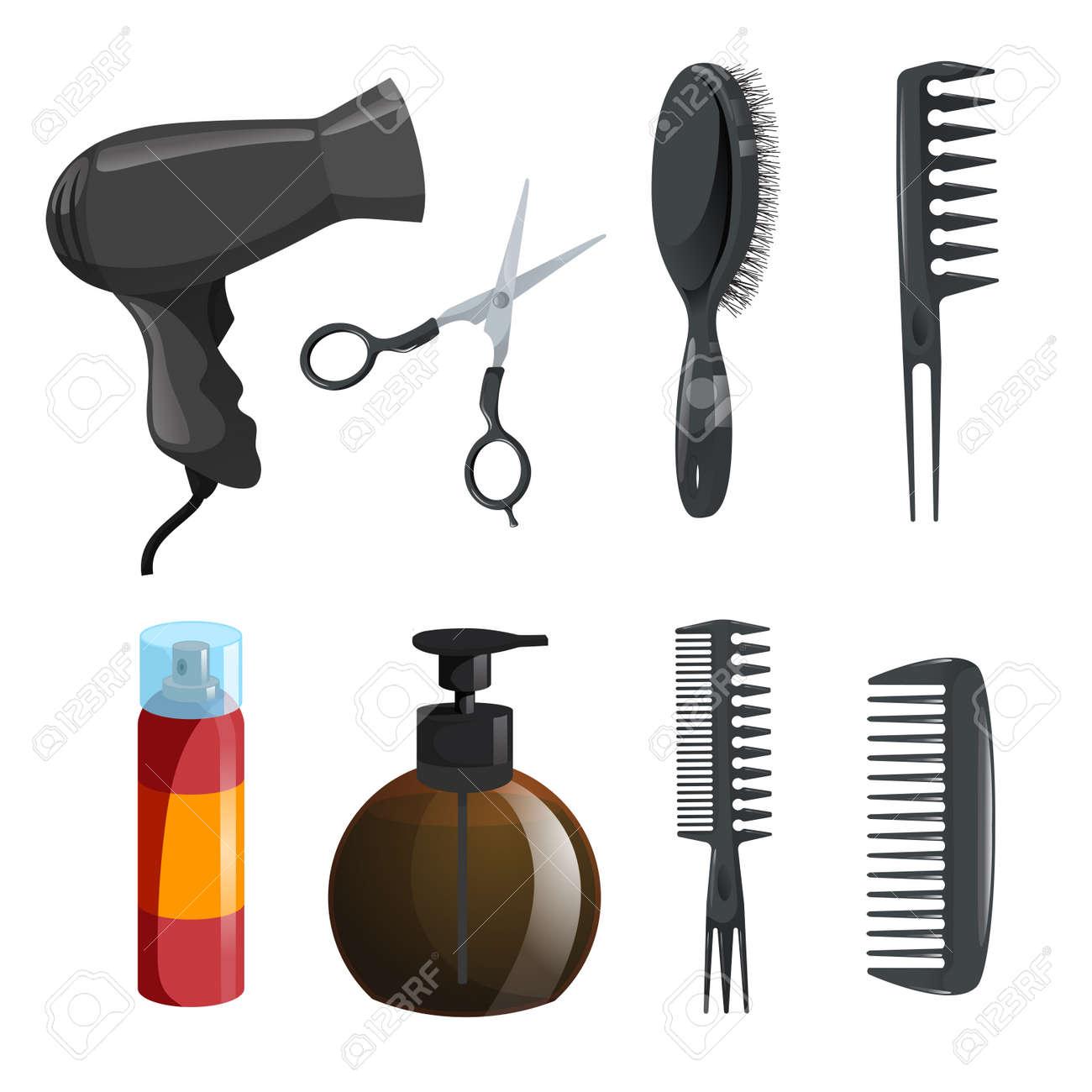 ecb632bbeb5 Hair beauty salon equipment set. Stock Vector - 91948948