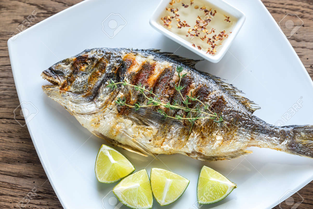 Grilled fish - 61376017