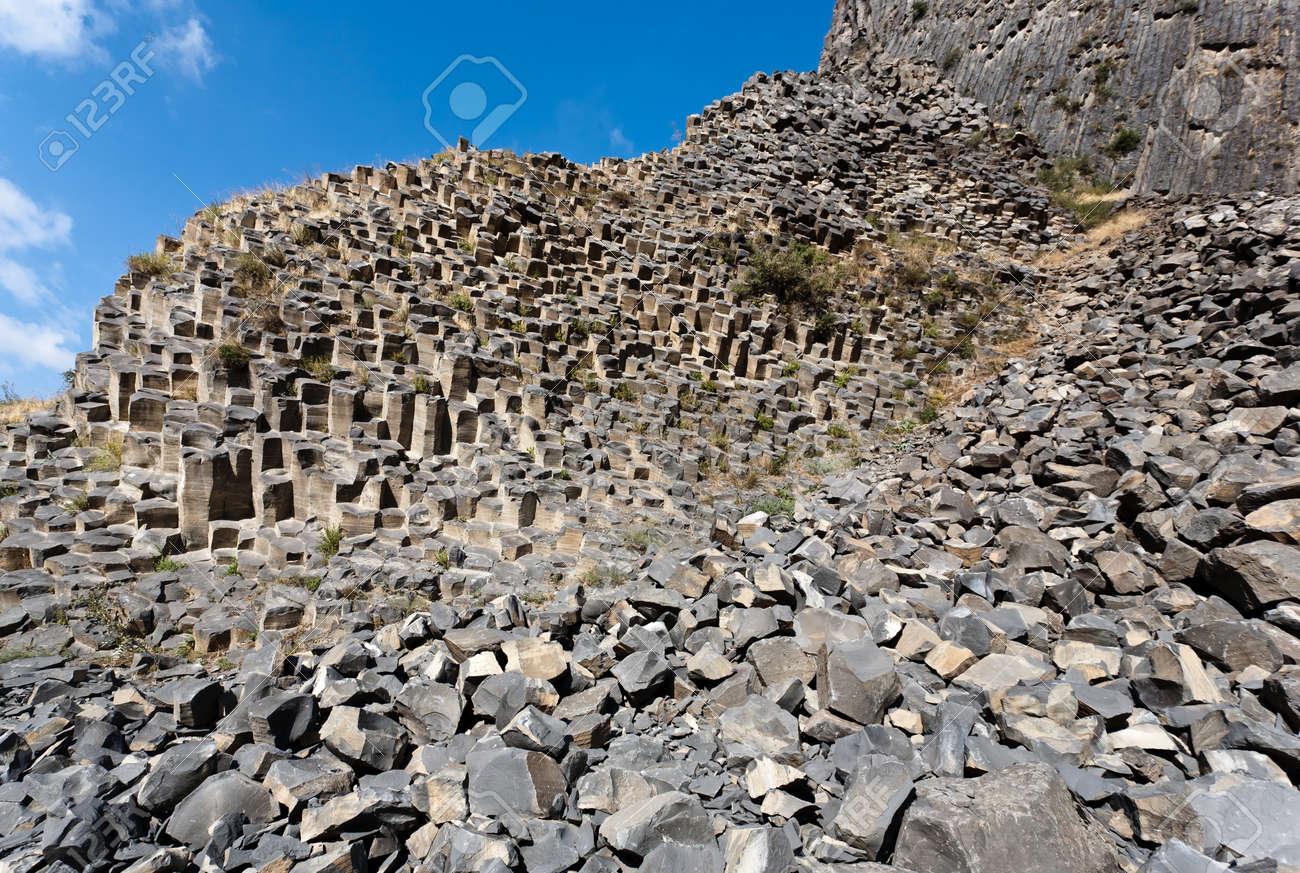 Beautiful basalt rocks called Symphony of Stones. Armenia. Stock Photo - 16686135
