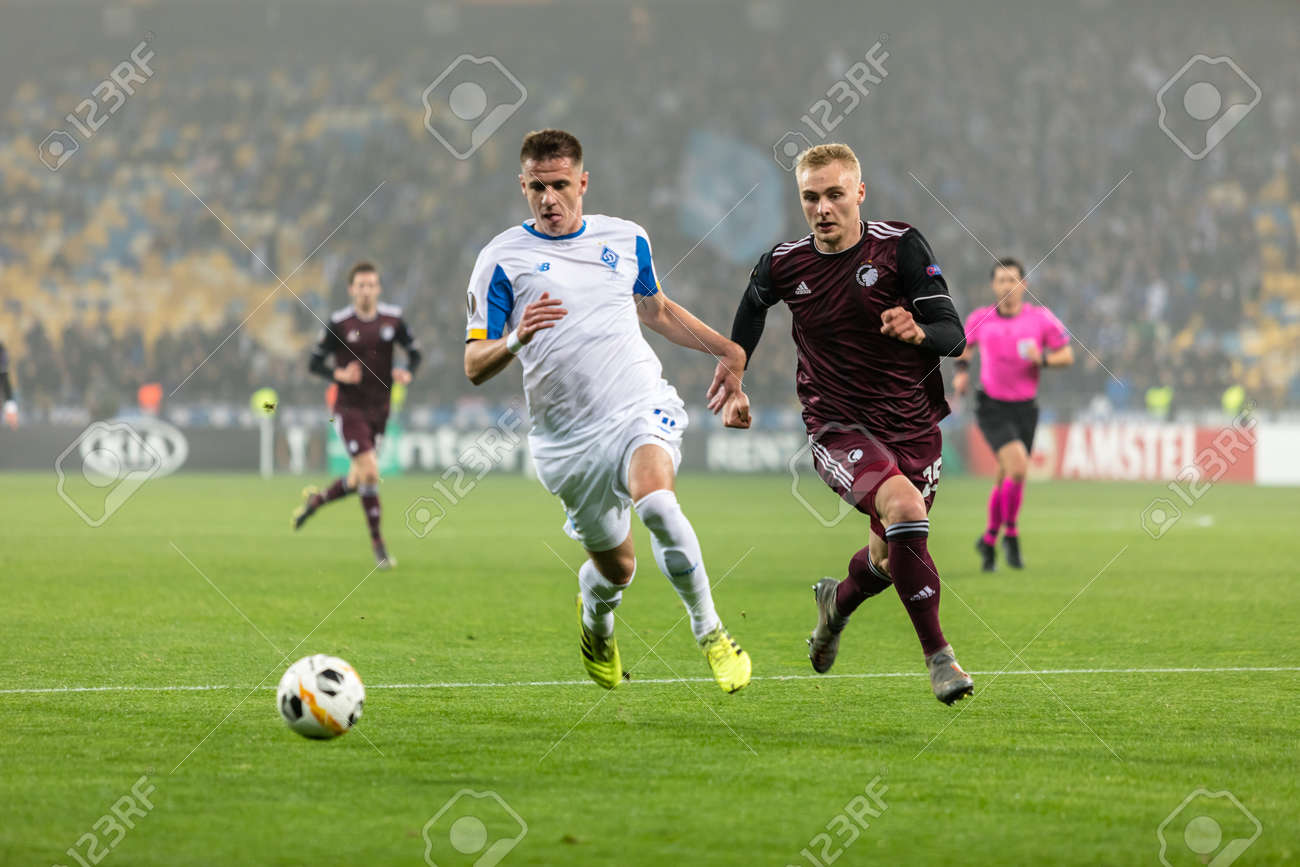 Kyiv Ukraine October 24 2019 Artem Besedin Of Fc Dynamo Stock Photo Picture And Royalty Free Image Image 136648183