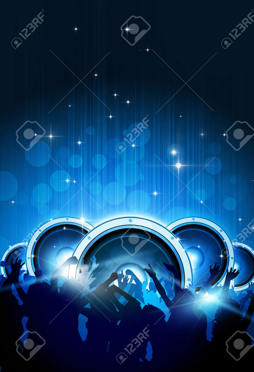 party music background for flyers and night club posters stock photo