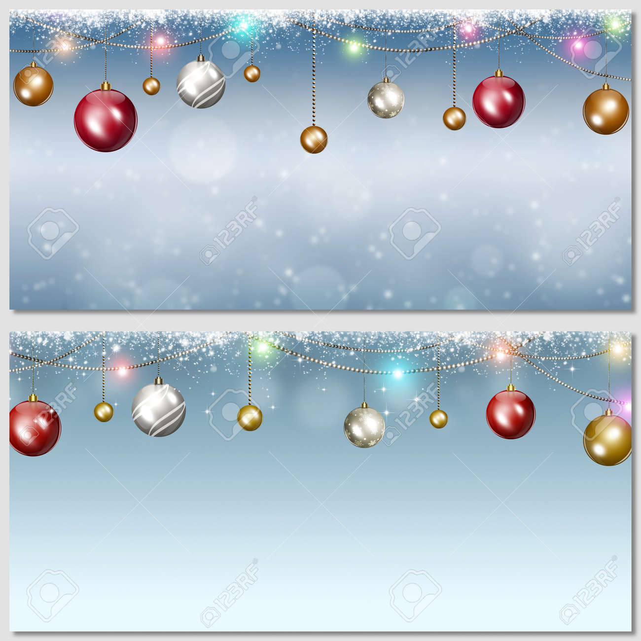 Winter Holiday Banners Resort Banners