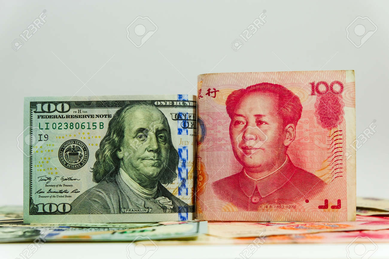 Us Dollar Bill And China Yuan Banknote America Is Debtor Of Stock Photo Picture And Royalty Free Image Image 100706750