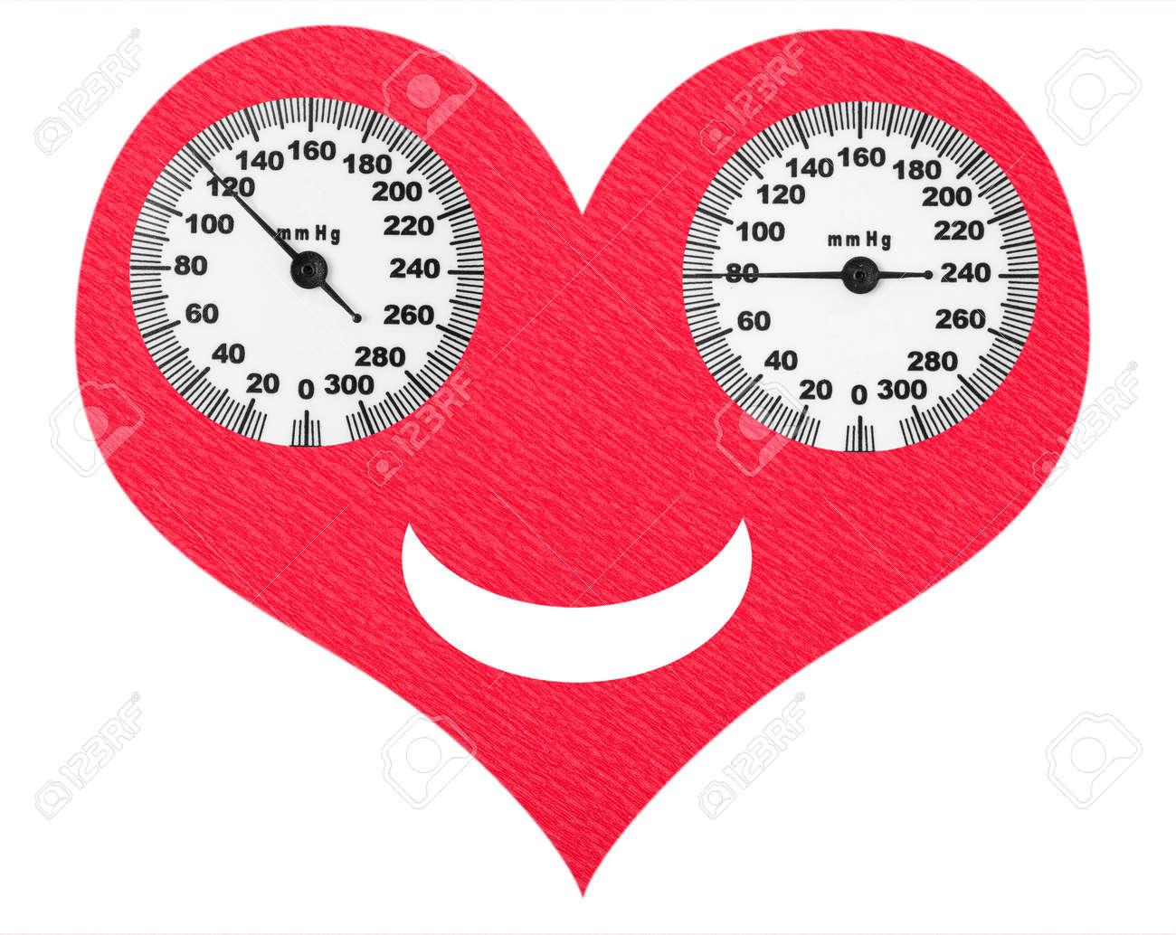 Glückliche Herzen Und Normalen Blutdruck Auf Die Waage Lizenzfreie
