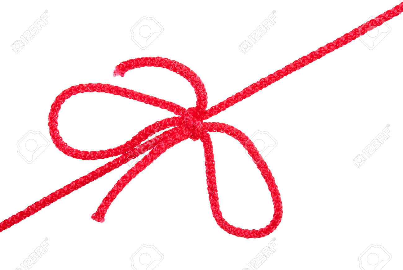 Knot and tie a red rope Stock Photo - 16176722