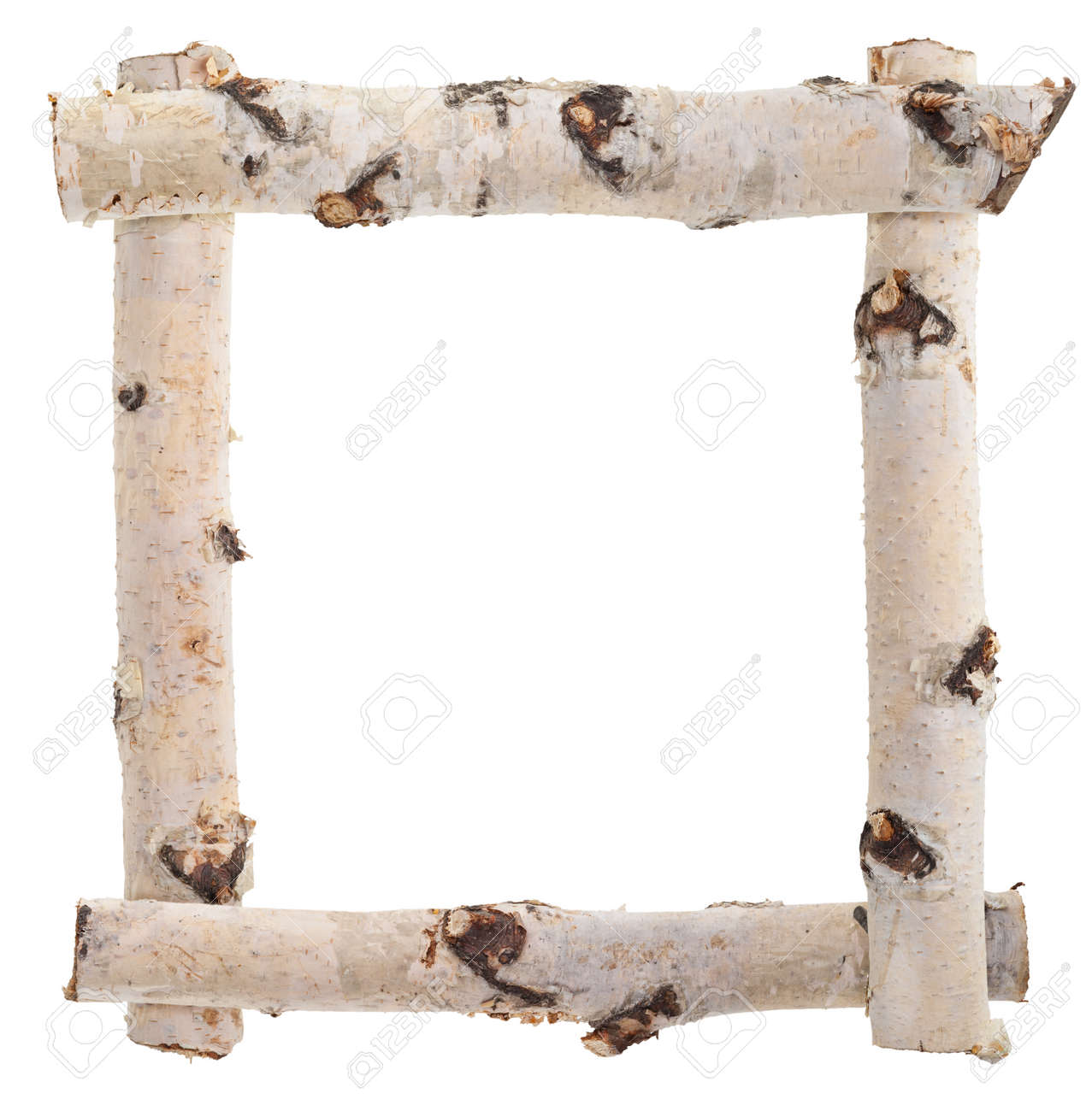 Frame Of Birch Logs Stock Photo, Picture And Royalty Free Image ...