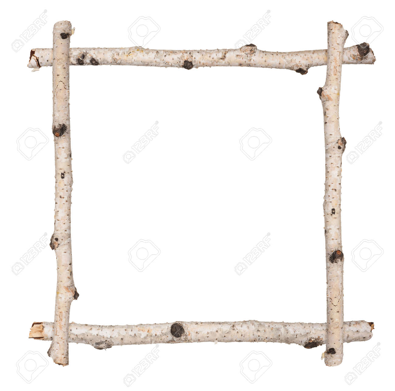 Twig Frame Of Birch Stock Photo, Picture And Royalty Free Image ...