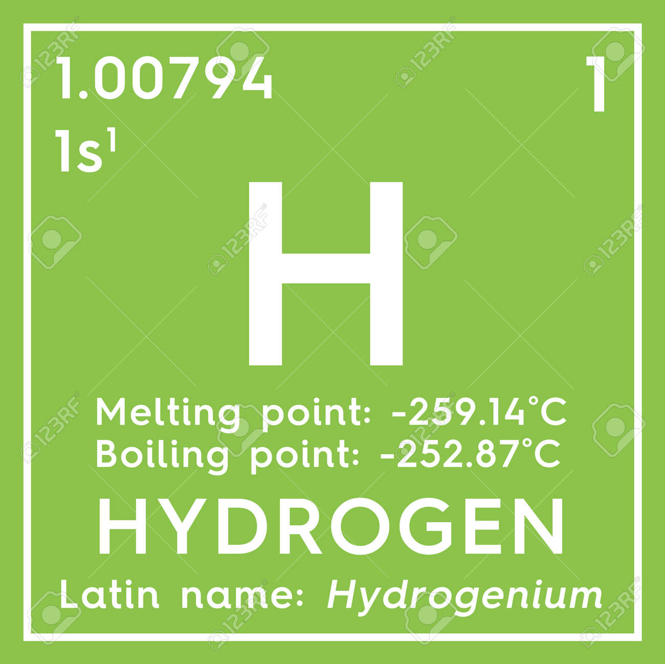 foto de archivo hidrgeno otros no metales elemento qumico de la tabla peridica de mendeleev hidrgeno en un concepto creativo de cubo cuadrado - Tabla Periodica De Los Elementos Hidrogeno