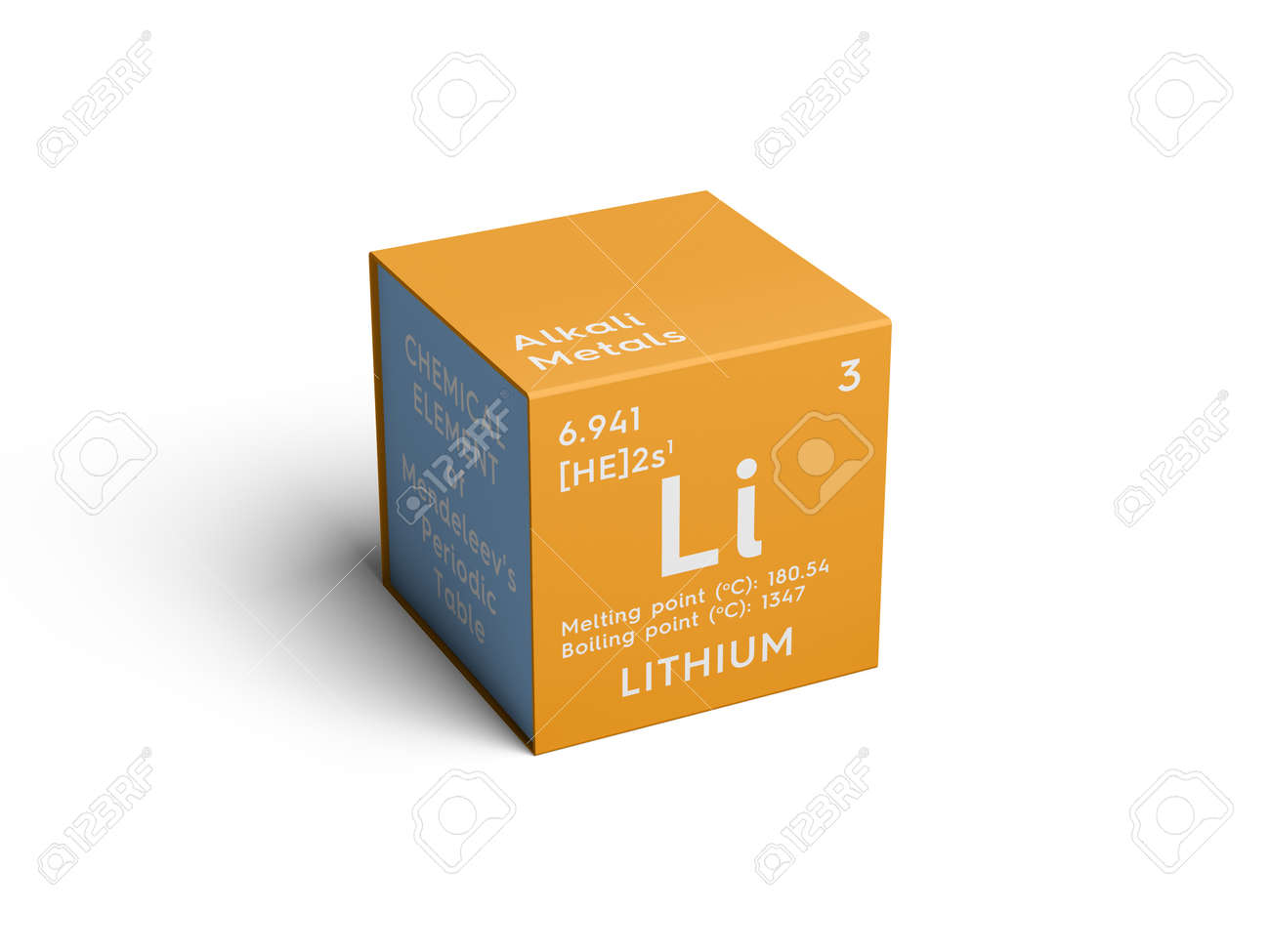 Lithium alkali metals chemical element of mendeleevs periodic alkali metals chemical element of mendeleevs periodic table lithium in square cube urtaz Image collections