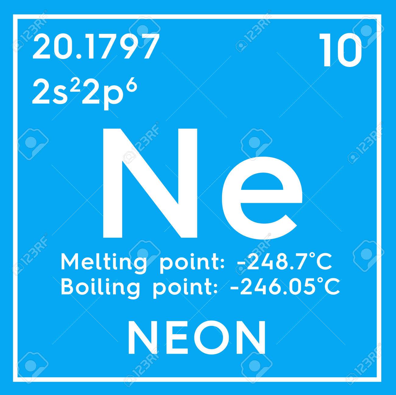 foto de archivo nen gases nobles elemento qumico de la tabla peridica de mendeleev nen en un concepto creativo cubo cuadrado