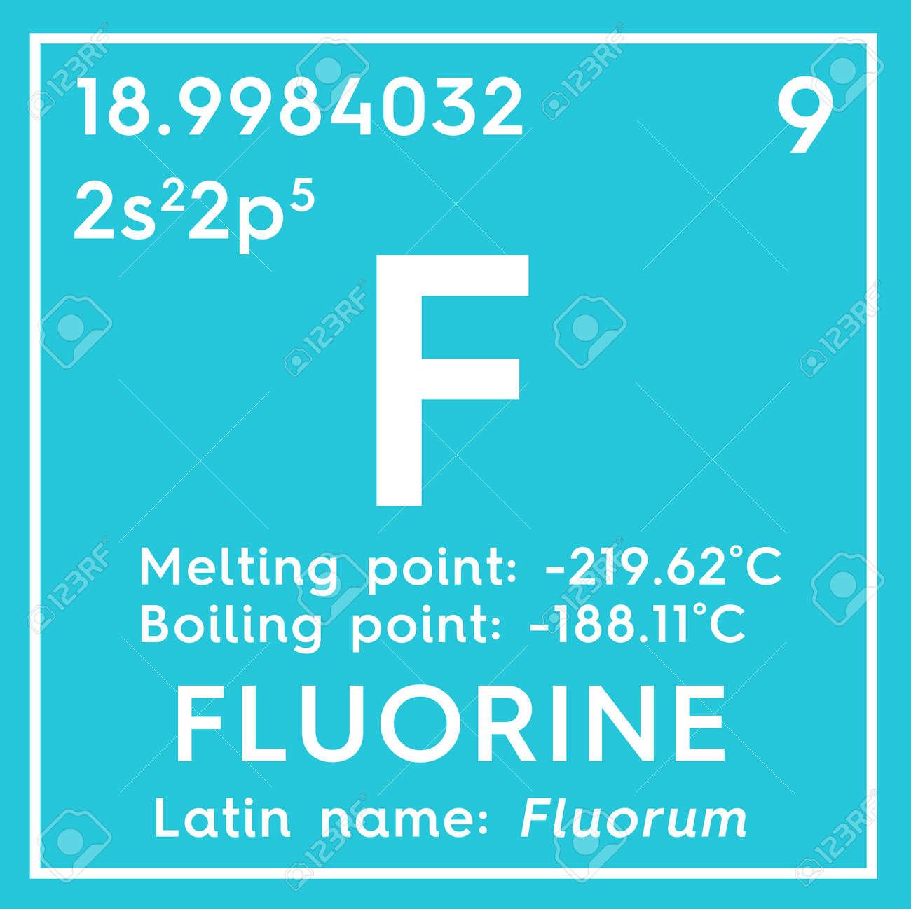 Fluorine halogens chemical element of mendeleevs periodic stock fluorine halogens chemical element of mendeleevs periodic table fluorine in a square cube urtaz Images
