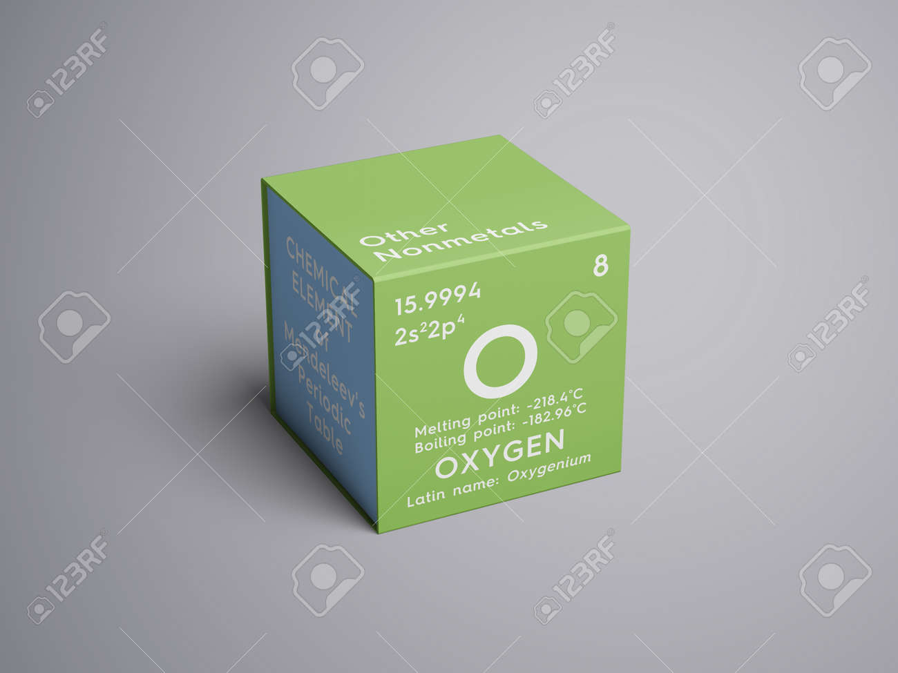 Oxygen Other Nonmetals Chemical Element Of Mendeleevs Periodic