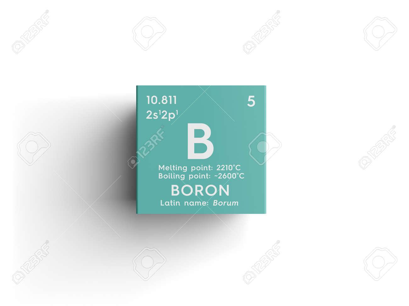 Boro metaloides elemento qumico de la tabla peridica de metaloides elemento qumico de la tabla peridica de mendeleev boro en cubo urtaz Images