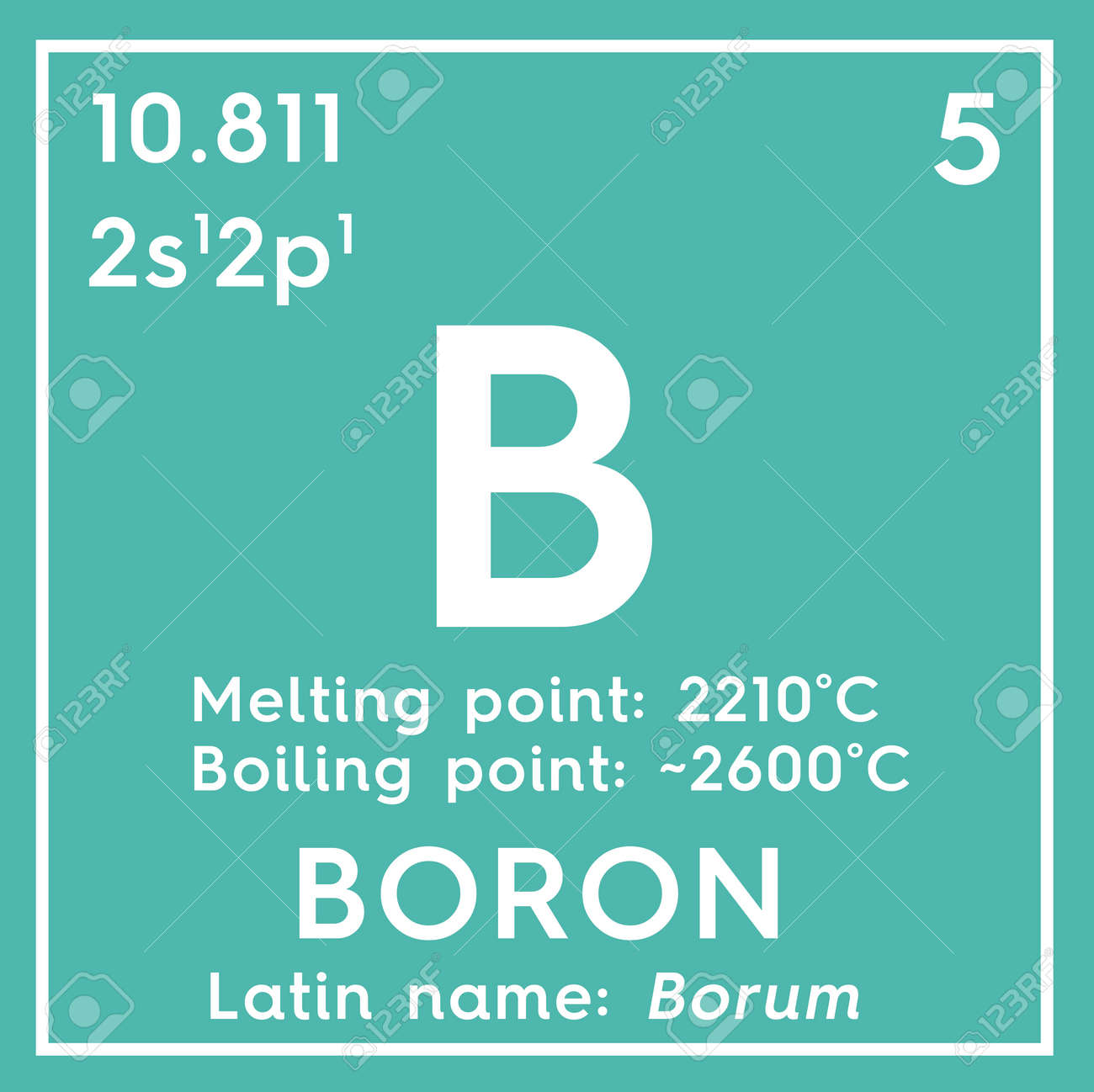 Boron metalloids chemical element of mendeleevs periodic table chemical element of mendeleevs periodic table boron in square cube creative urtaz Images