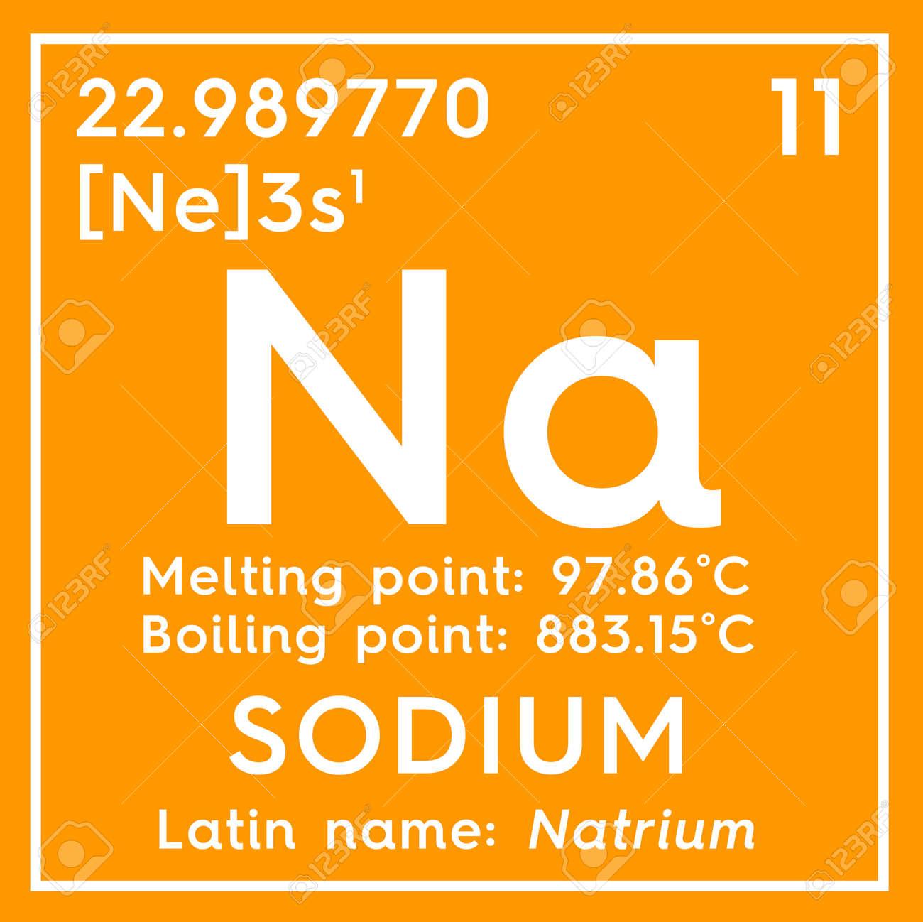 foto de archivo sodio natrium metales alcalinos elemento qumico de la tabla peridica de mendeleev sodio en un cubo cuadrado concepto creativo - Metales Alcalinos Tabla Periodica Definicion