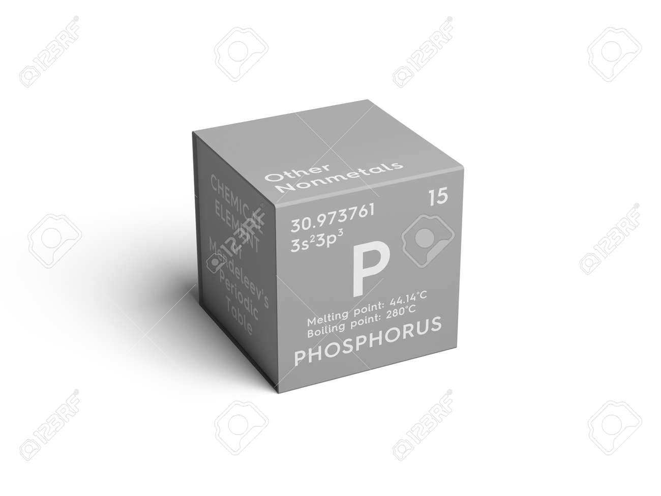 Phosphorus Other Nonmetals Chemical Element Of Mendeleevs Stock