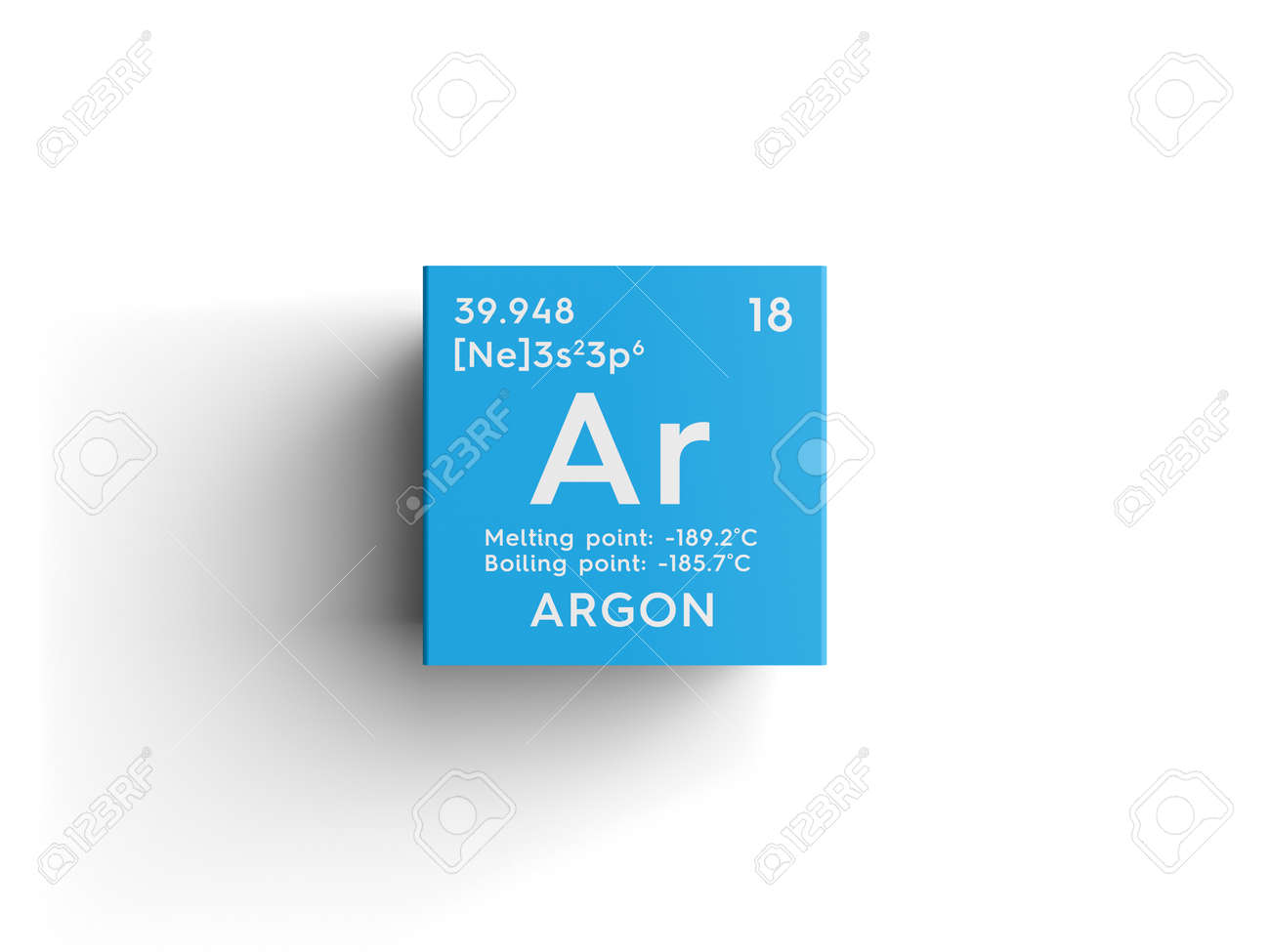 Argon noble gases chemical element of mendeleevs periodic argon noble gases chemical element of mendeleevs periodic table argon in square cube gamestrikefo Choice Image