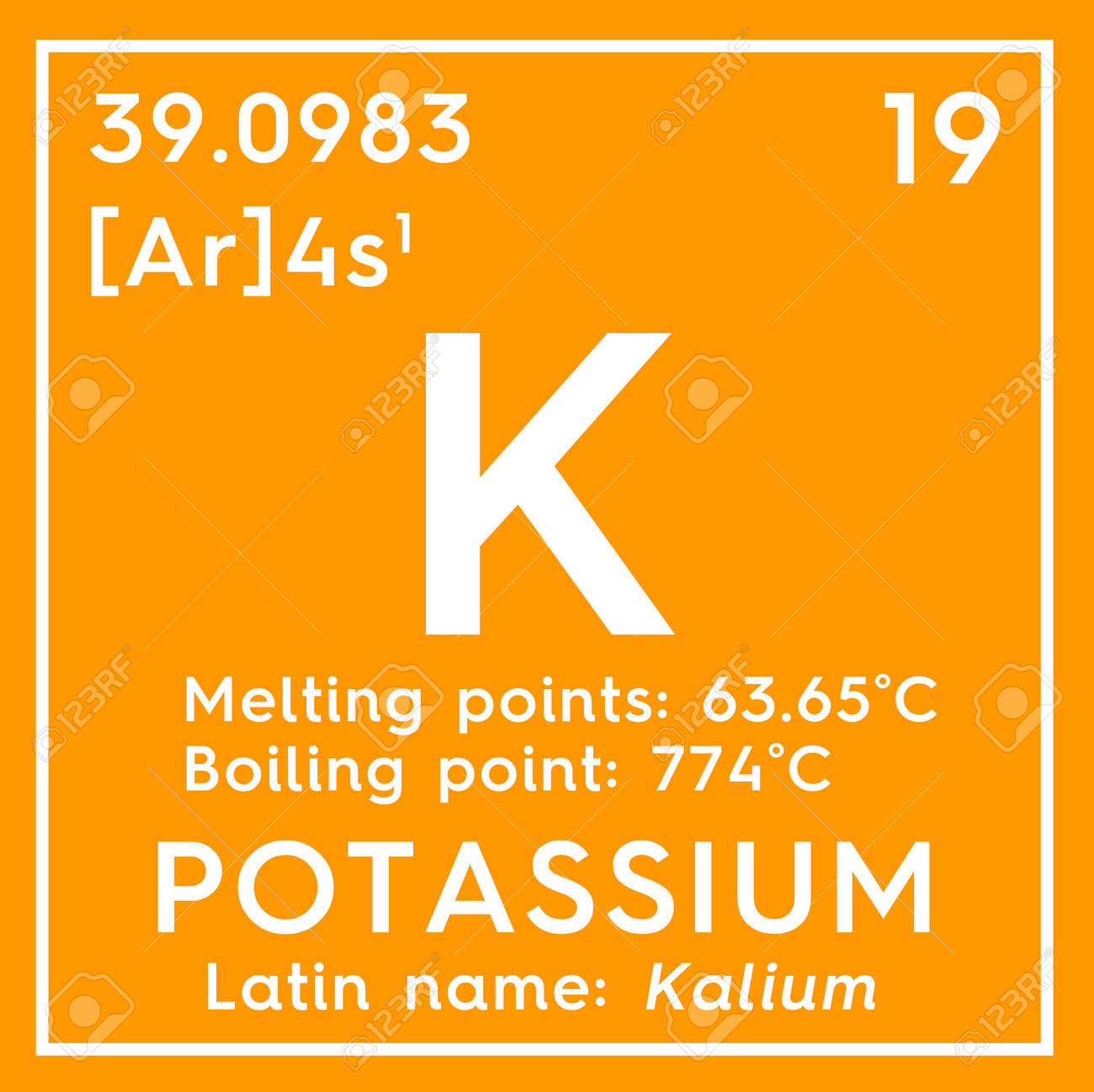 Potasio kalium metales alcalinos elemento qumico de la tabla foto de archivo potasio kalium metales alcalinos elemento qumico de la tabla peridica de mendeleev urtaz Gallery