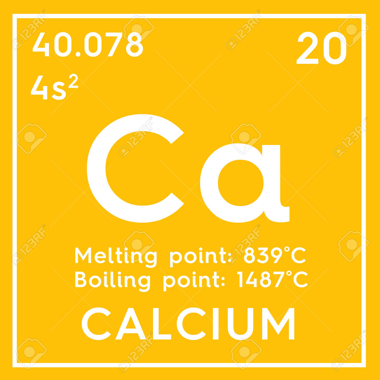 Calcium symbol periodic table best table 2018 calcium symbol ca element of the periodic table zoomed stock photo urtaz Gallery