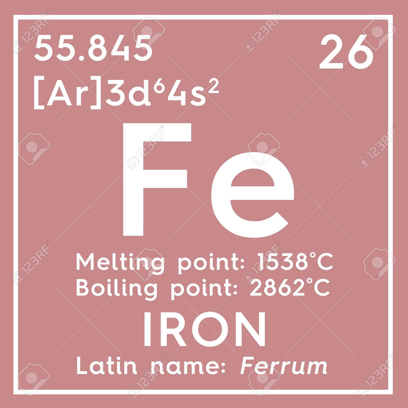 Hierro ferrum metales de transicin elemento qumico de la tabla foto de archivo hierro ferrum metales de transicin elemento qumico de la tabla peridica de mendeleev hierro en un cubo cuadrado concepto creativo urtaz Choice Image