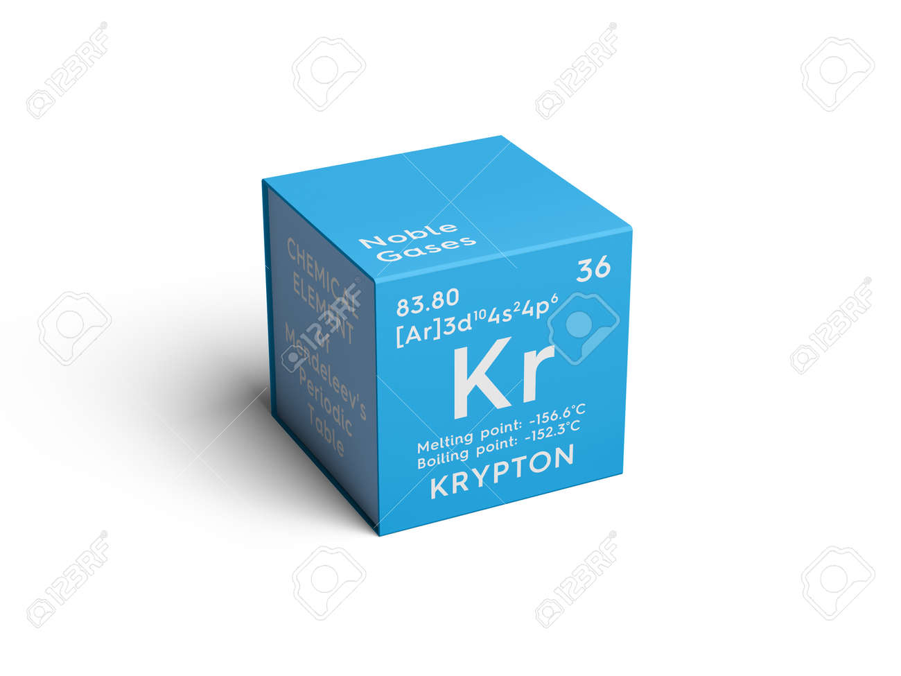 Krypton noble gases chemical element of mendeleevs periodic krypton noble gases chemical element of mendeleevs periodic table krypton in square cube gamestrikefo Choice Image
