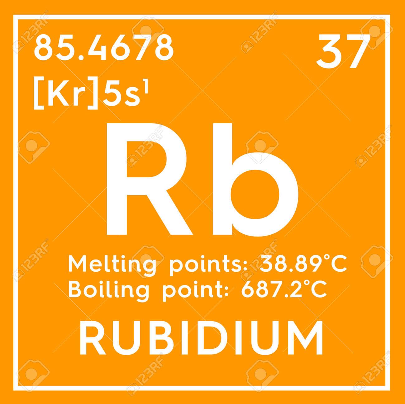 metales alcalinos elemento qumico de la tabla peridica de mendeleev rubidium en un cubo cuadrado concepto creativo - Metales Alcalinos Tabla Periodica Definicion