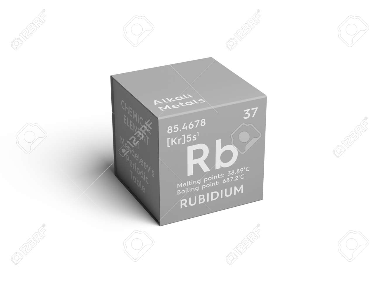 alkali metals chemical element of mendeleevs periodic table rubidium in a square - Periodic Table For Alkali Metals