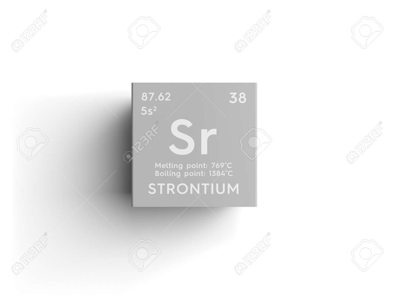 alkaline earth metals chemical element of mendeleevs periodic table strontium in a square cube creative concept - Periodic Table Elements Alkaline Earth Metals