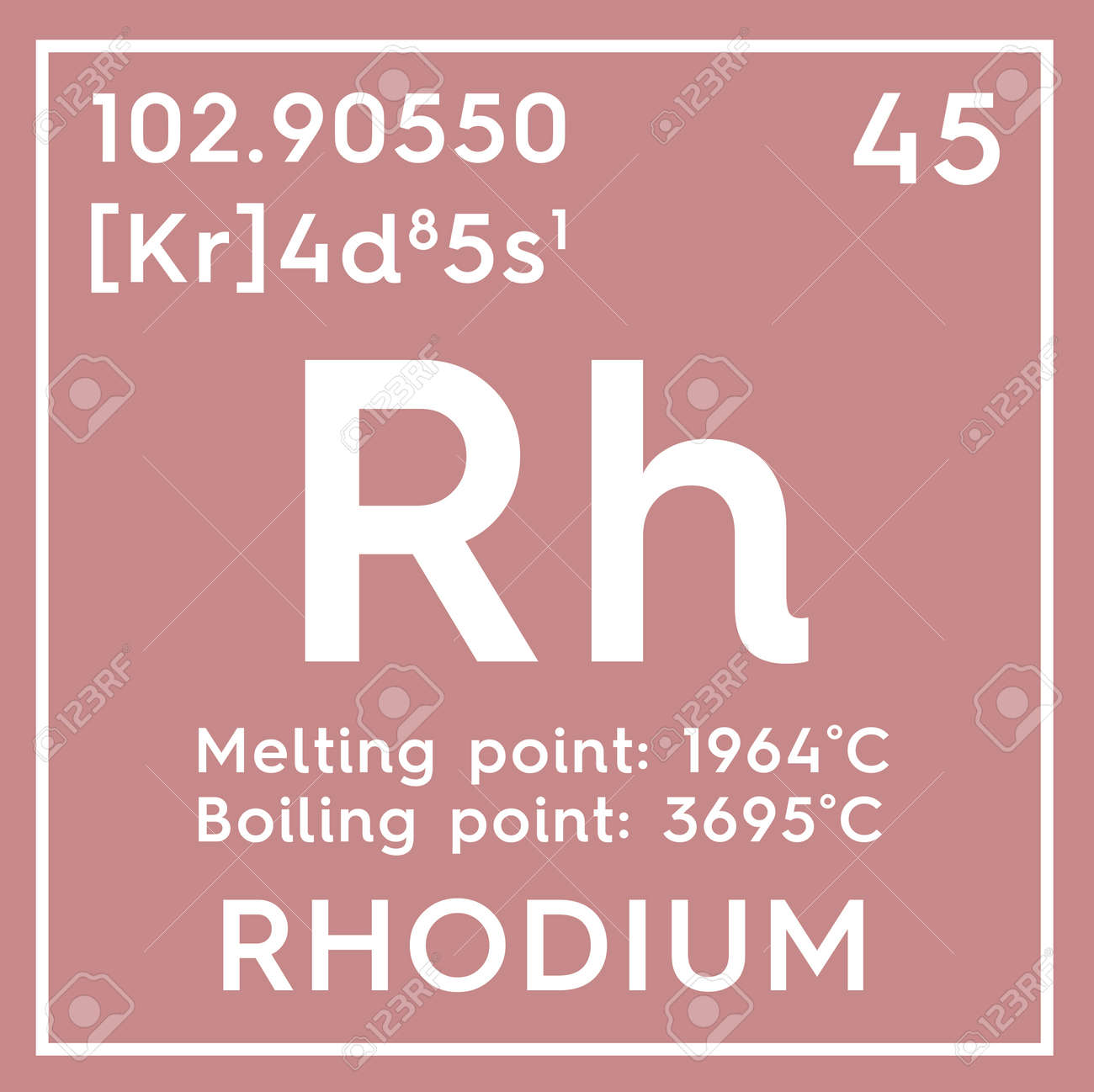 Rhodium transition metals chemical element of mendeleevs periodic transition metals chemical element of mendeleevs periodic table rhodium in a square urtaz Image collections