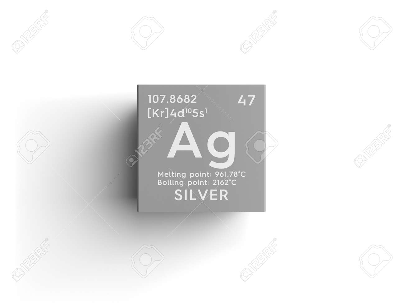 Silver transition metals chemical element of mendeleevs periodic silver transition metals chemical element of mendeleevs periodic table silver in square cube urtaz Images