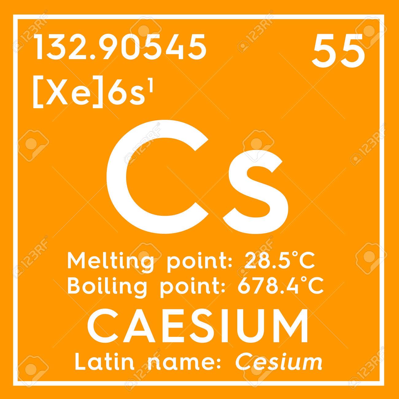 photo cesio metales alcalinos elemento qumico de la tabla peridica de mendeleev cesio en concepto creat
