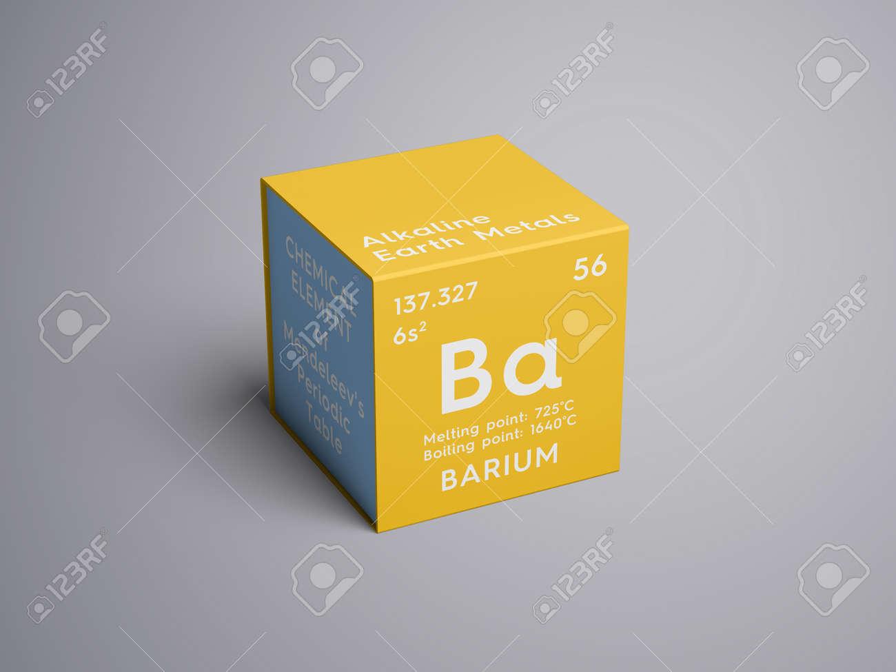 alkaline earth metals chemical element of mendeleevs periodic table barium in square - Periodic Table Elements Alkaline Earth Metals