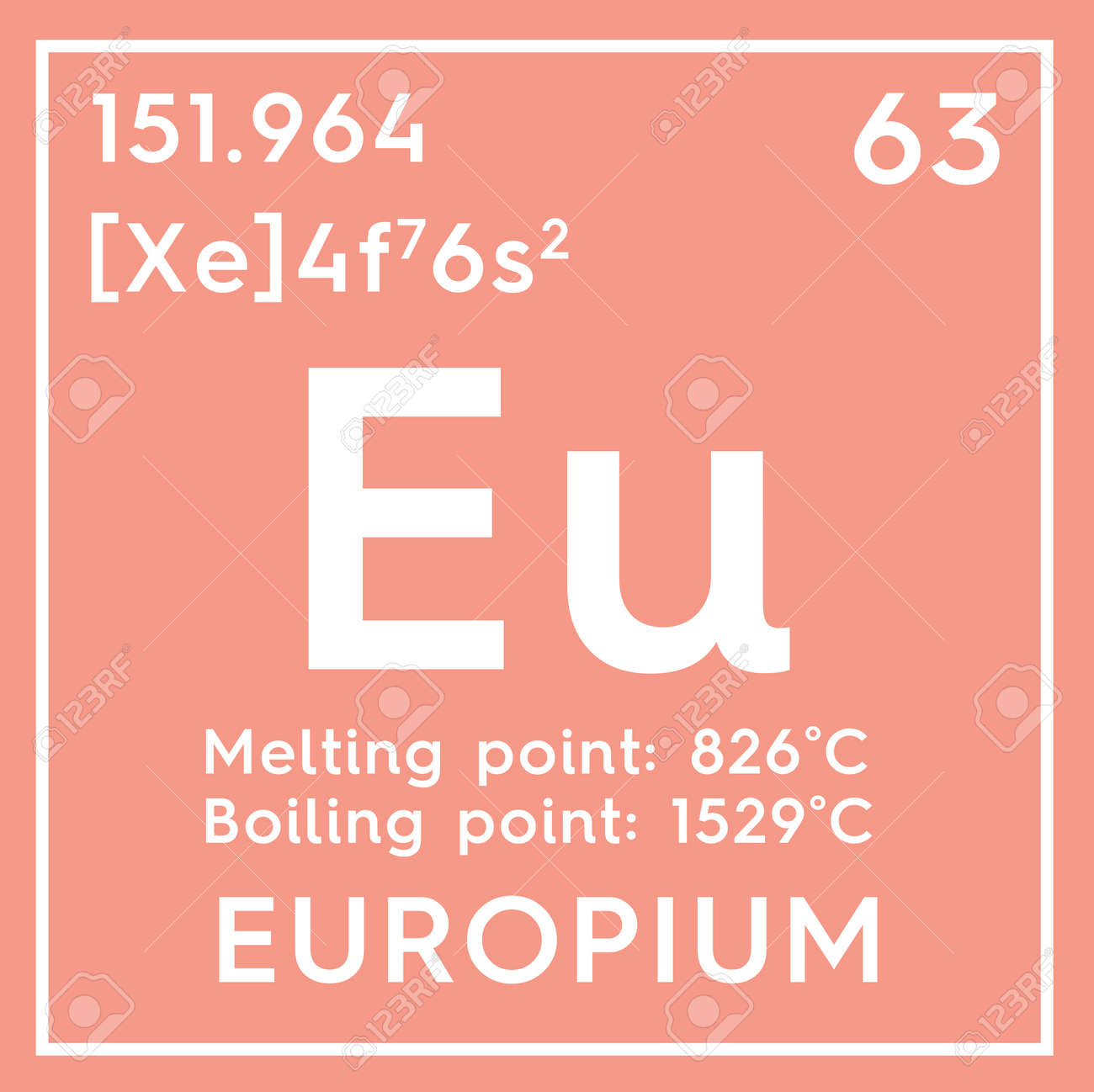 Europium lanthanoids chemical element of mendeleevs periodic chemical element of mendeleevs periodic table europium in square cube creative gamestrikefo Images