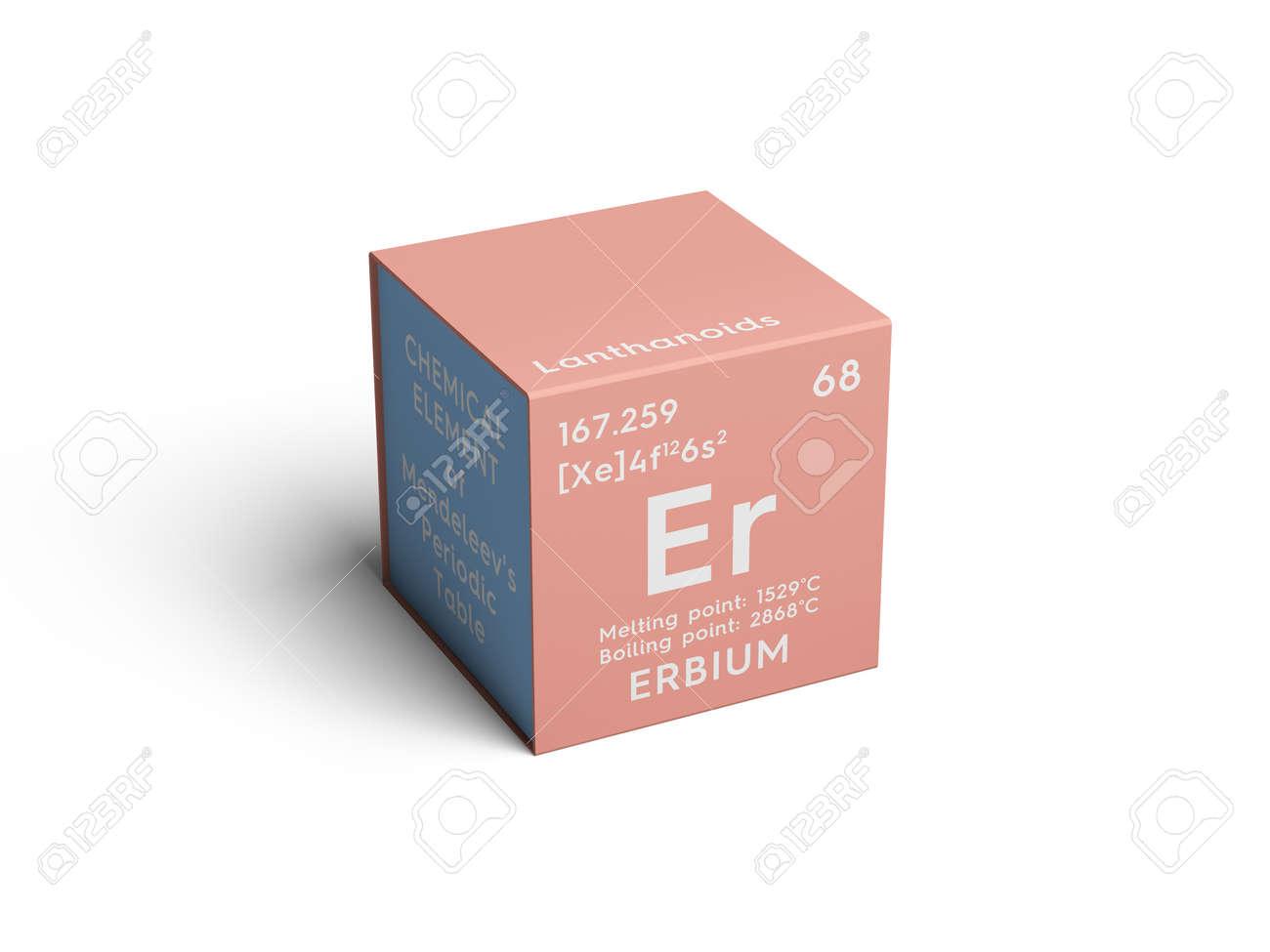 Erbio lantanoides elemento qumico de la tabla peridica de elemento qumico de la tabla peridica de mendeleev erbio en cubo cuadrado urtaz Choice Image