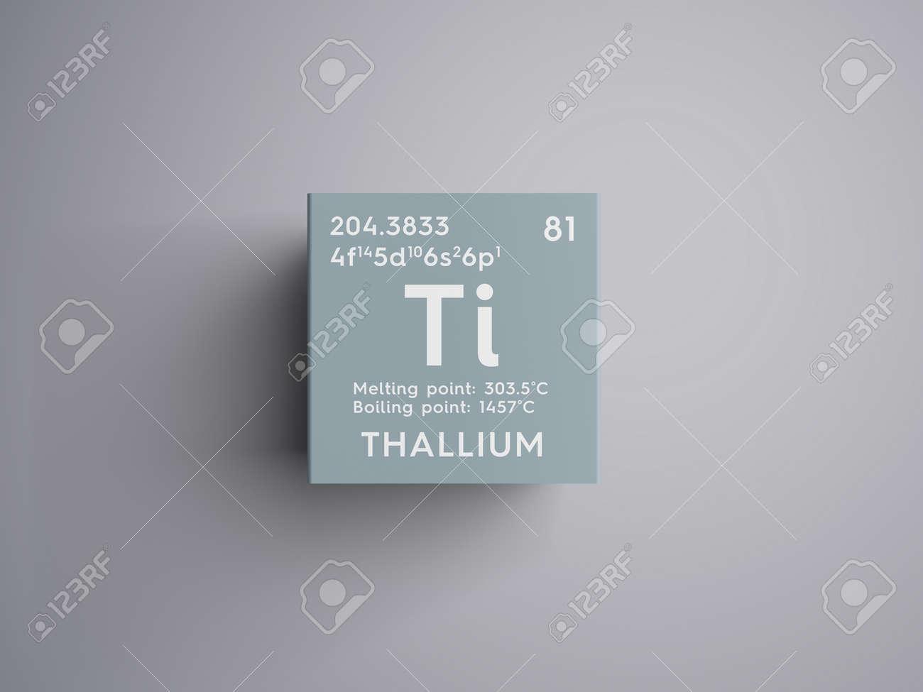 Talio metales posteriores a la transicin elemento qumico de la metales posteriores a la transicin elemento qumico de la tabla peridica de mendeleev talio en un cubo cuadrado concepto creativo urtaz Images