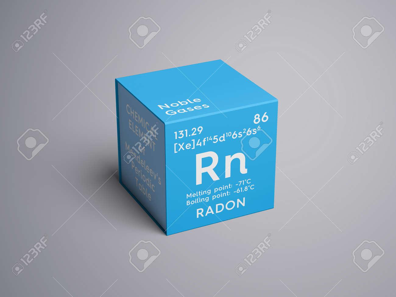 Radn gases nobles elemento qumico de la tabla peridica de gases nobles elemento qumico de la tabla peridica de mendeleev radn en un cubo cuadrado concepto creativo urtaz Gallery