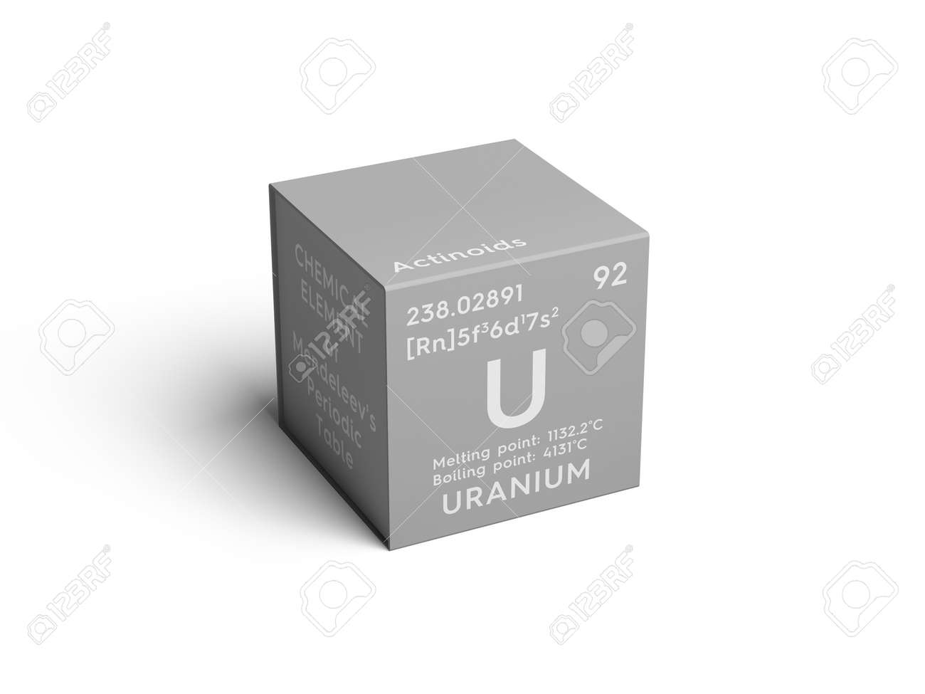 Uranium actinoids chemical element of mendeleevs periodic uranium actinoids chemical element of mendeleevs periodic table uranium in square cube creative gamestrikefo Image collections