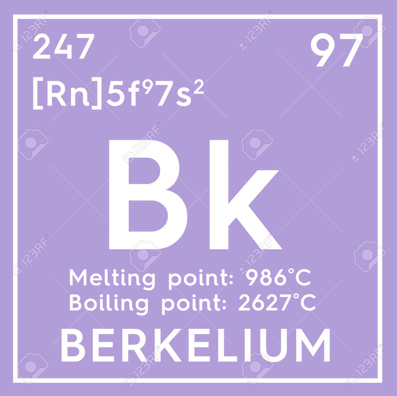 Berkelio actinoides elemento qumico de la tabla peridica de elemento qumico de la tabla peridica de mendeleev berkelium en concepto urtaz Choice Image