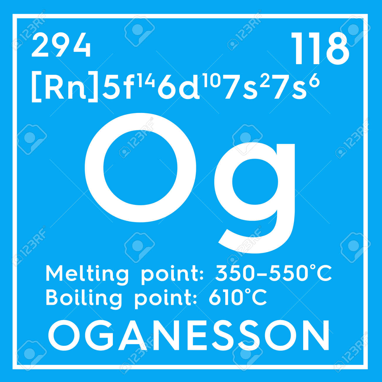 Oganesson noble gases chemical element of mendeleevs periodic chemical element of mendeleevs periodic table oganesson in square cube gamestrikefo Images