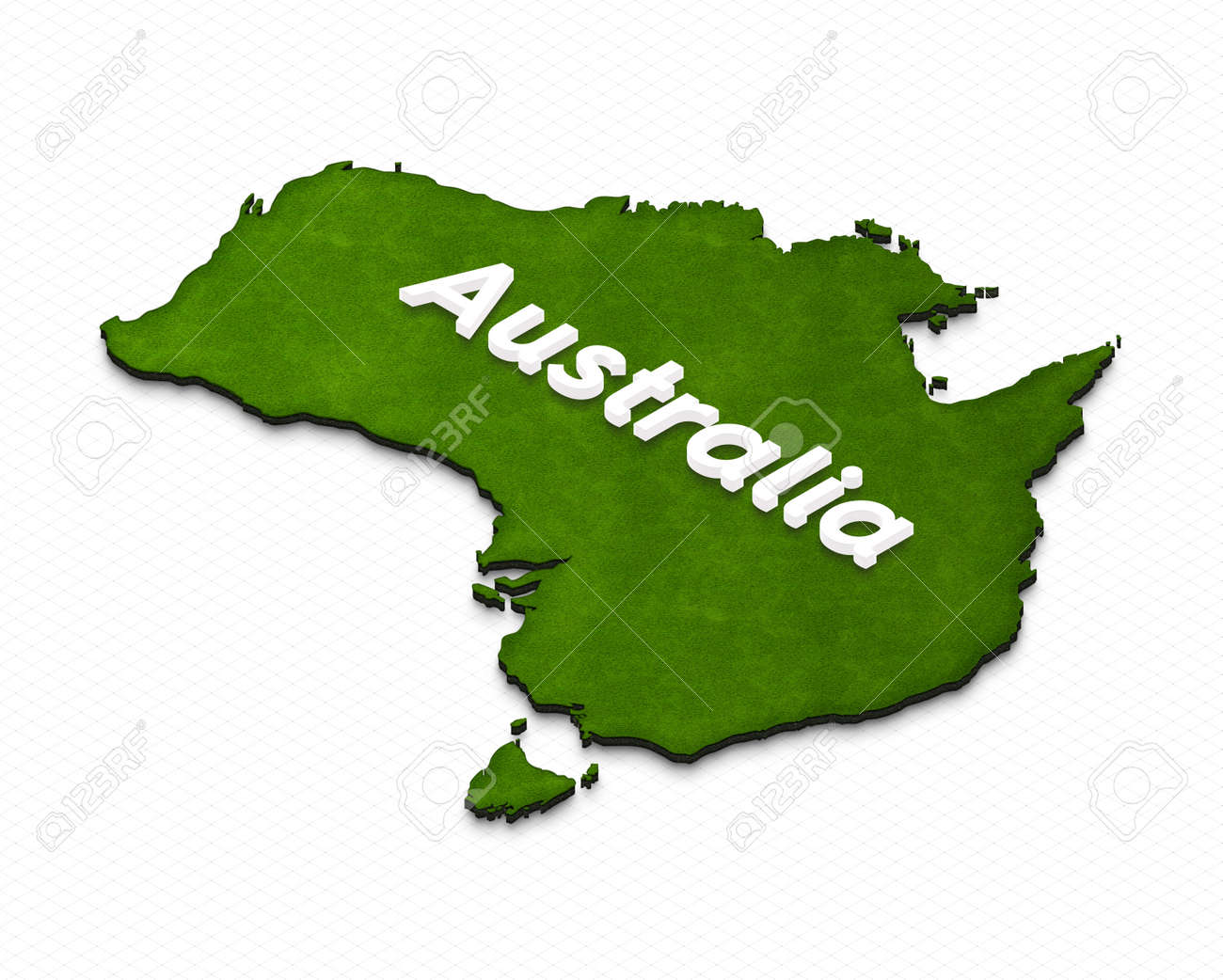 Illustration of a green ground map of australia on grid background illustration illustration of a green ground map of australia on grid background left 3d isometric projection with the name of continent gumiabroncs Gallery