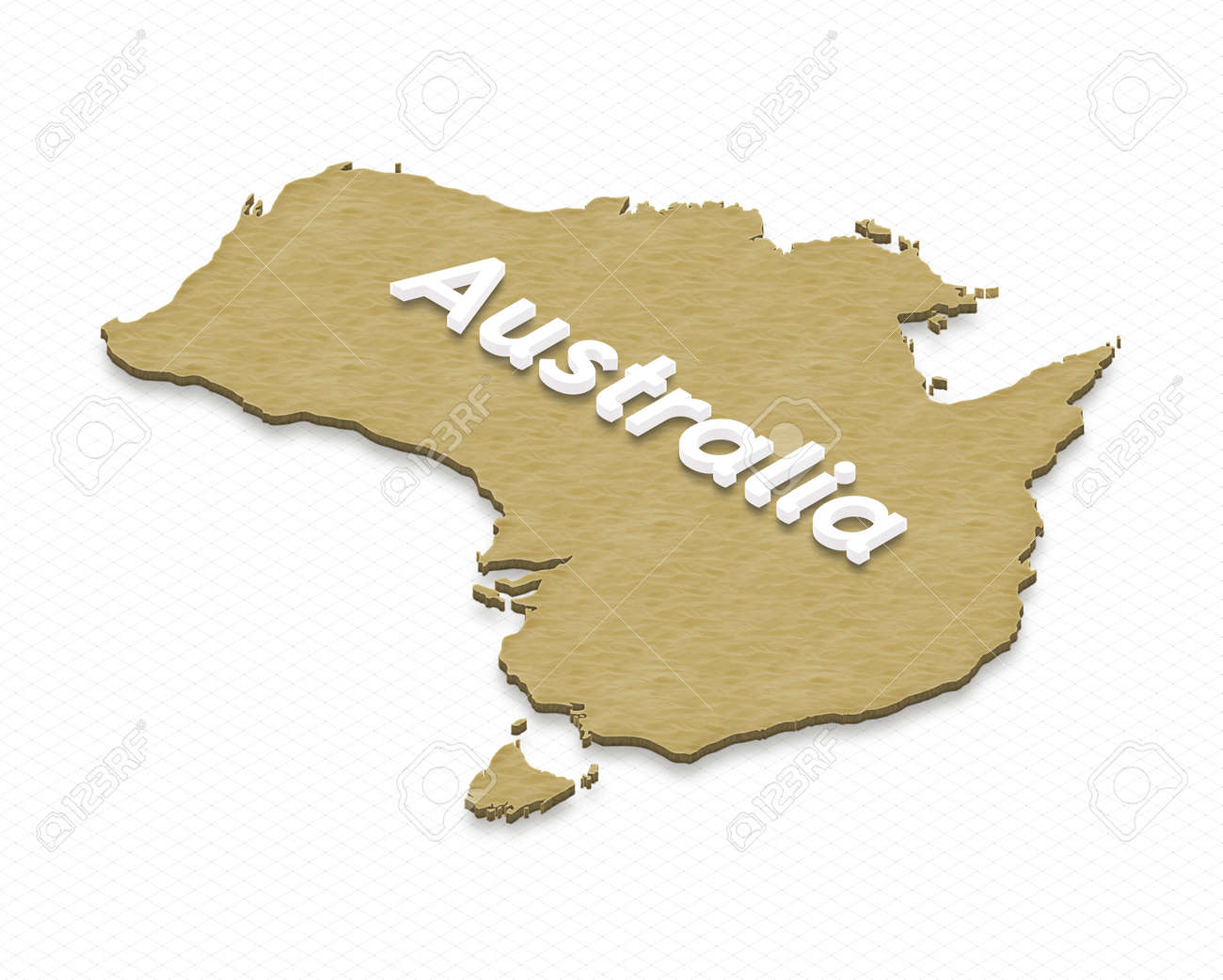 Illustration of a sand ground map of australia on grid background illustration illustration of a sand ground map of australia on grid background left 3d isometric projection with the name of continent gumiabroncs Gallery