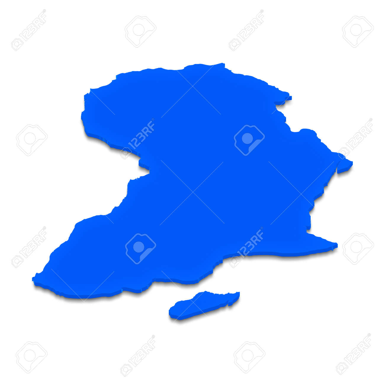 Illustration of a blue ground map of africa on isolated background illustration illustration of a blue ground map of africa on isolated background left 3d isometric projection gumiabroncs Choice Image