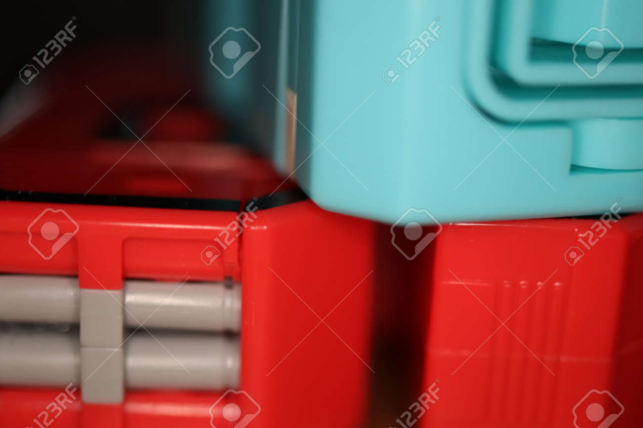 Abstract Colored Transformer Toys  Assembled Plastic Construction
