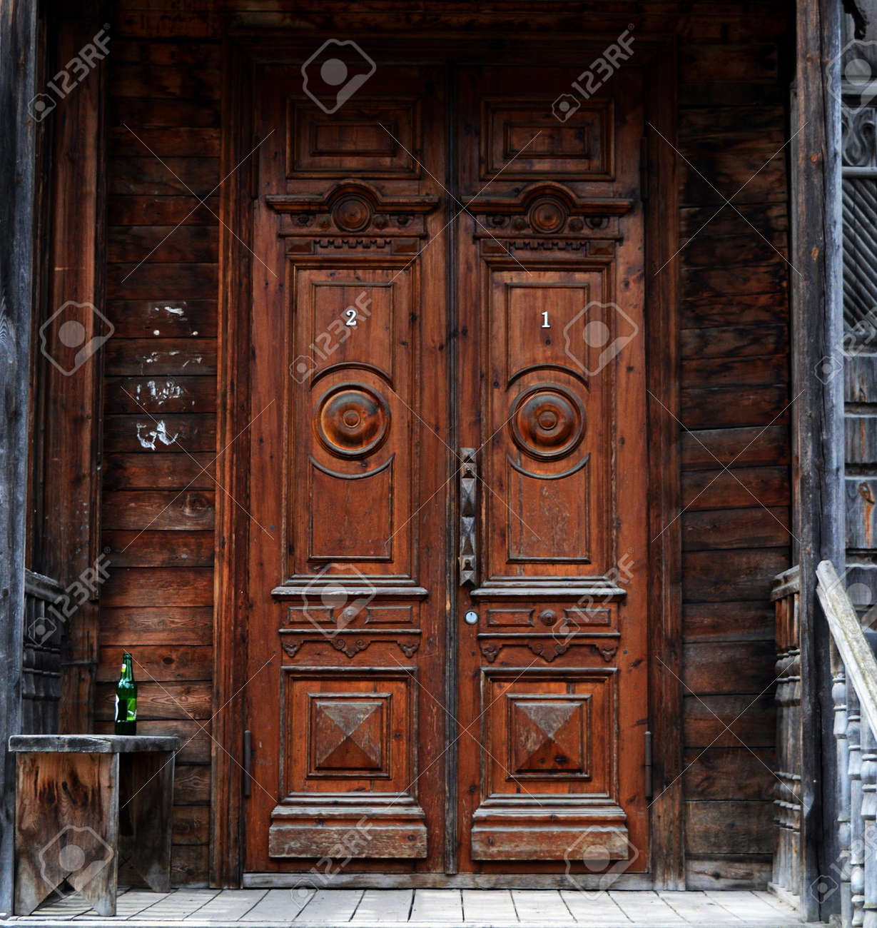 Old Fashioned Doors Of Siberia Stock Photo   64768246