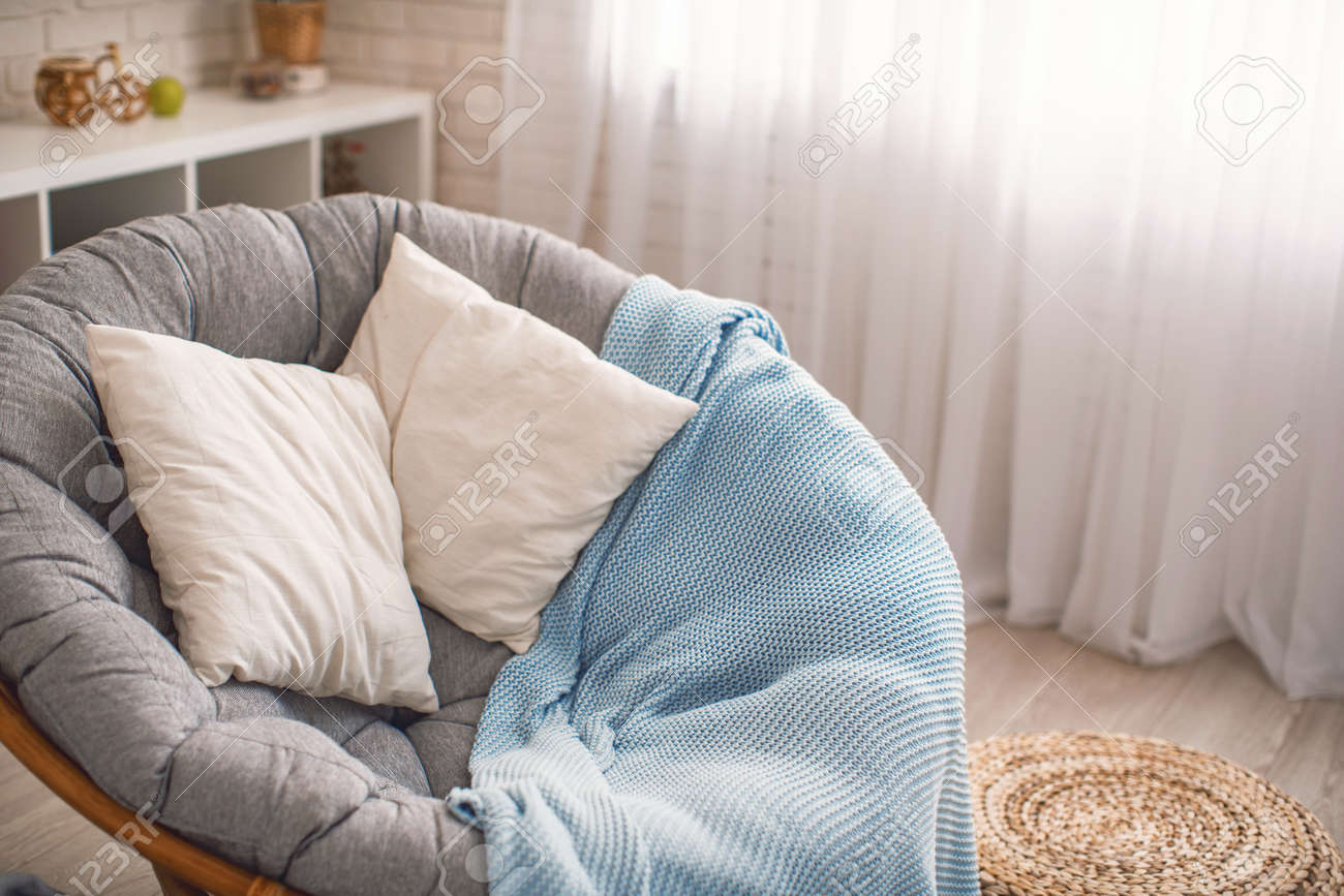 Image of: Comfortable Home Environment Cozy Large Round Chair Stands Stock Photo Picture And Royalty Free Image Image 145929002