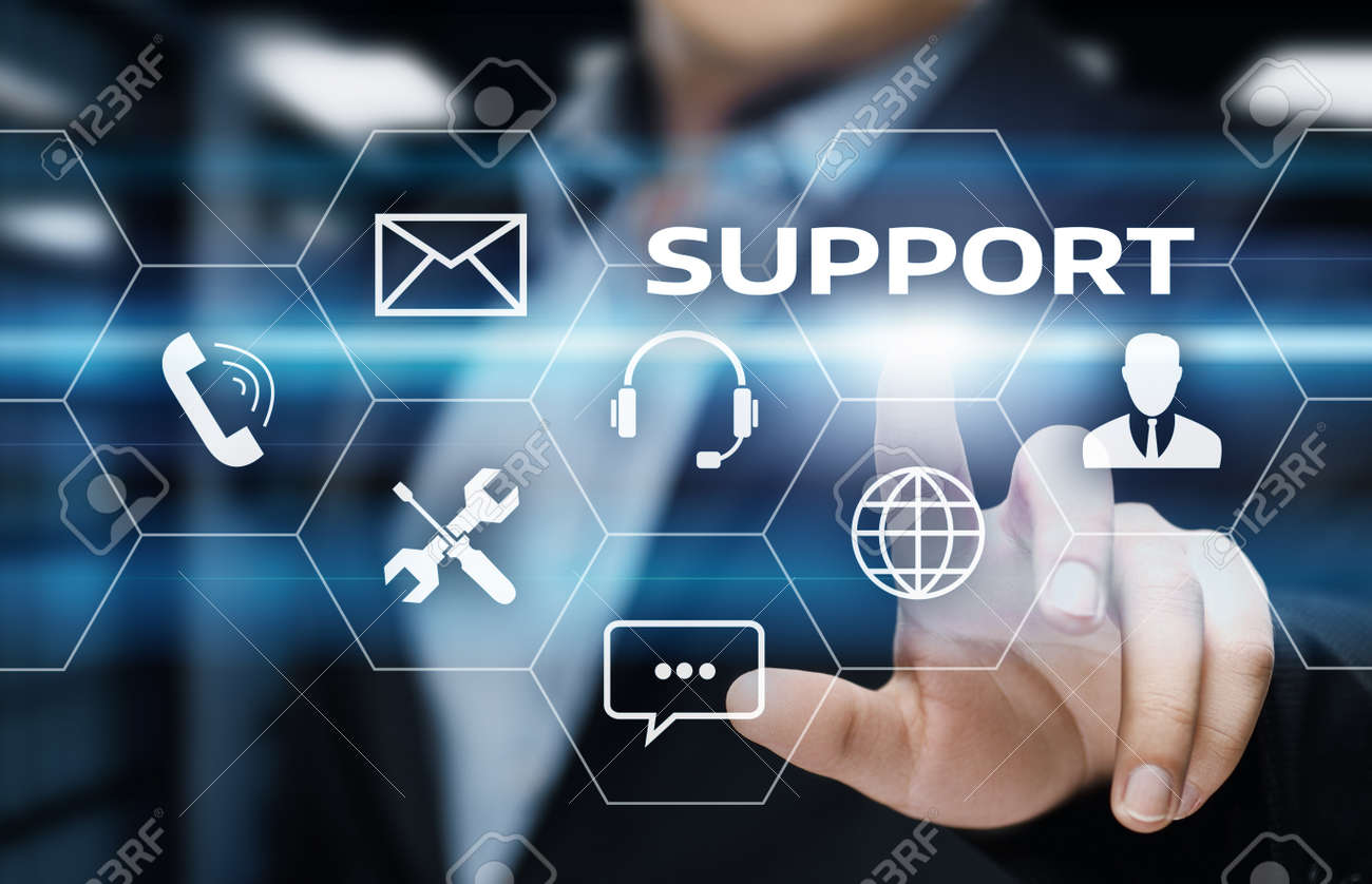 6d3bbbf444d Stock Photo - Technical Support Center Customer Service Internet Business  Technology Concept.