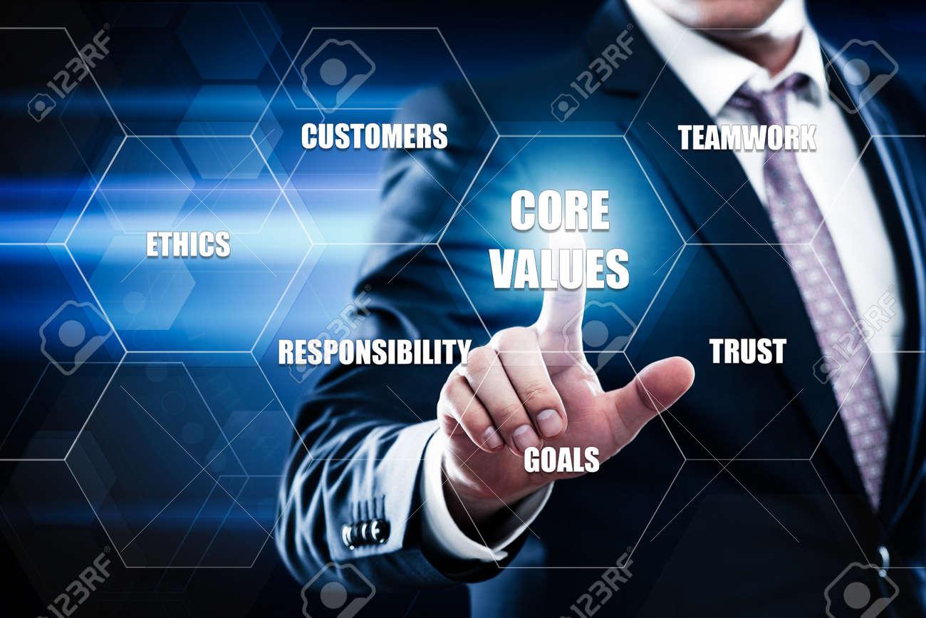 Core Values Responsibility Ethics Goals Company concept. - 86299727