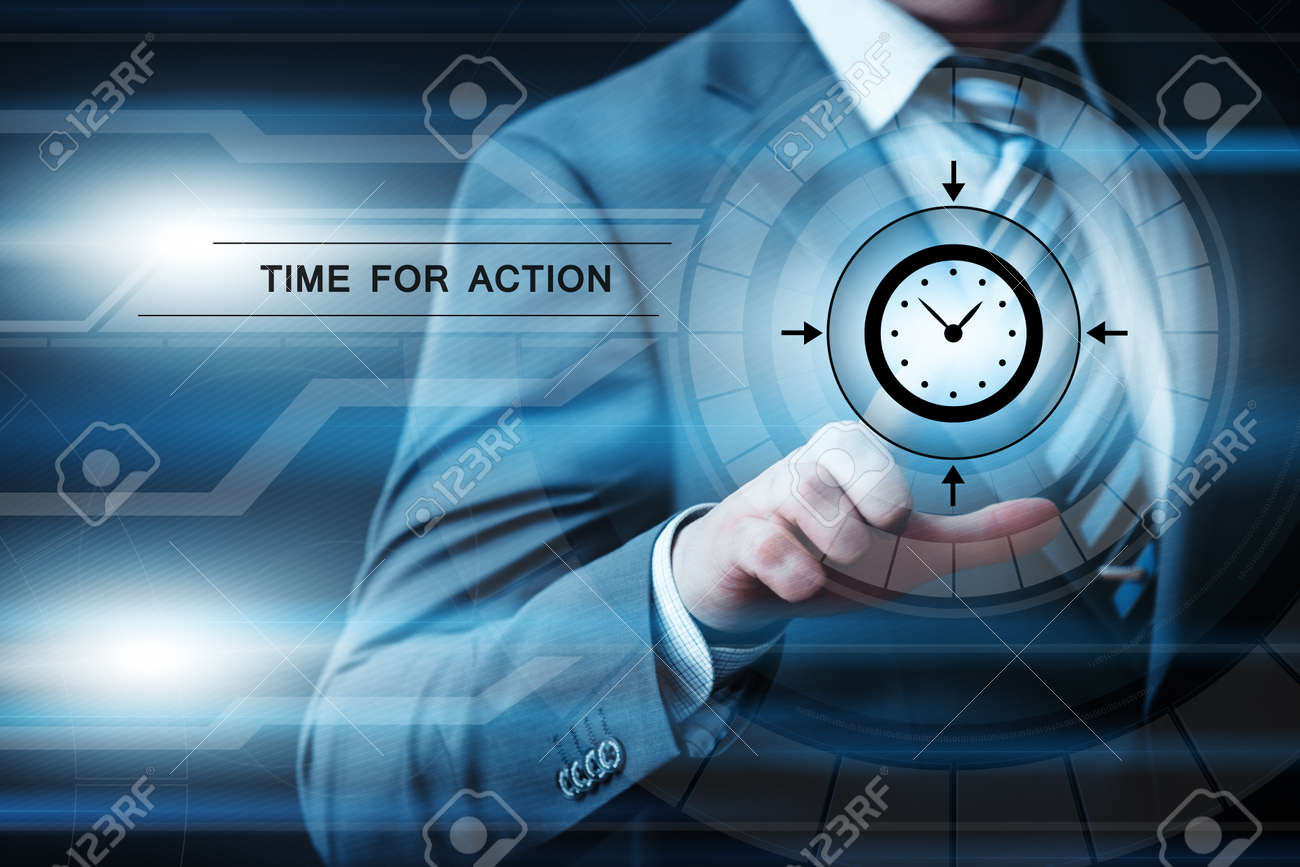 Time For action Motivation Buiness Technology Internet Concept. - 86905310