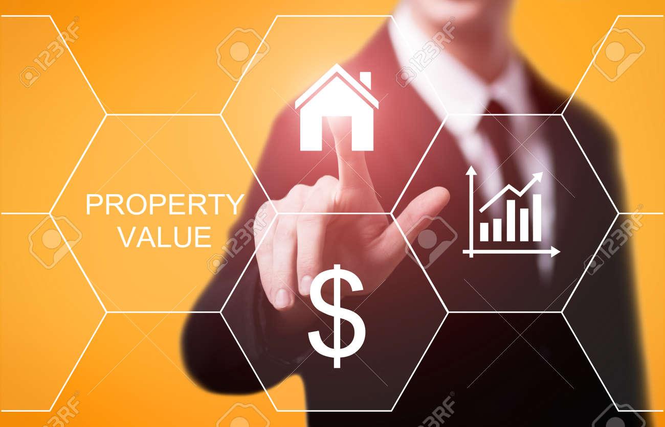 Property Value Real Estate Market Internet Business Technology Concept. - 87113858
