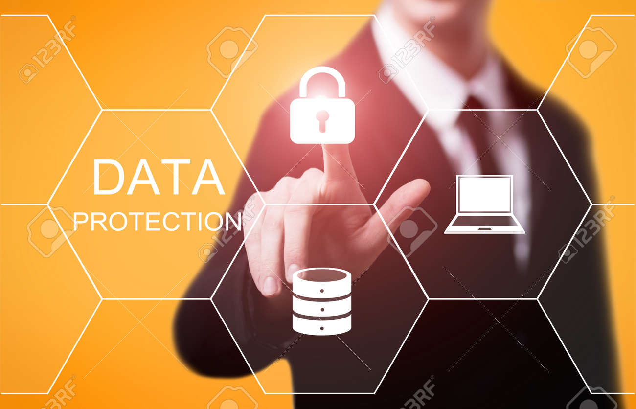 Data protection Cyber Security Privacy Business Internet Technology Concept. - 87274874